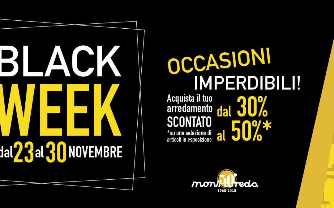Black Week da Monti Arreda, sconti imperdibili!